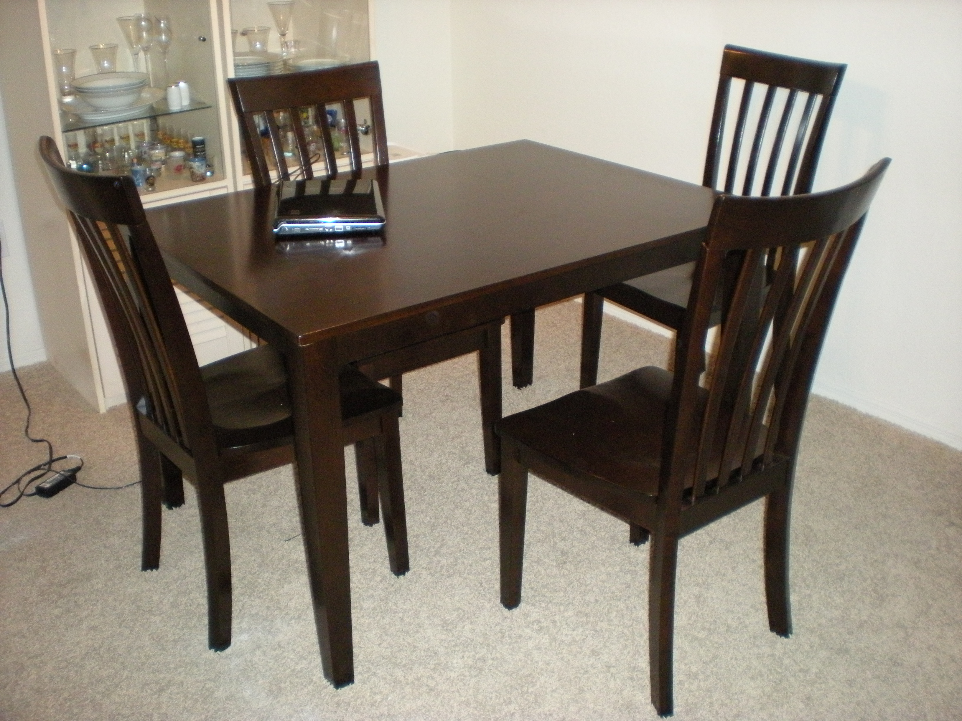 Cheap dark wood furniture at the galleria for Dark wood furniture